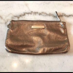 Tiffany Gold Leather Pouch